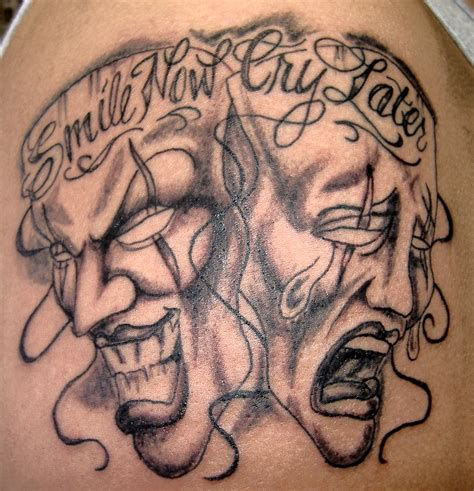 great tattoos laugh now cry later tattoos