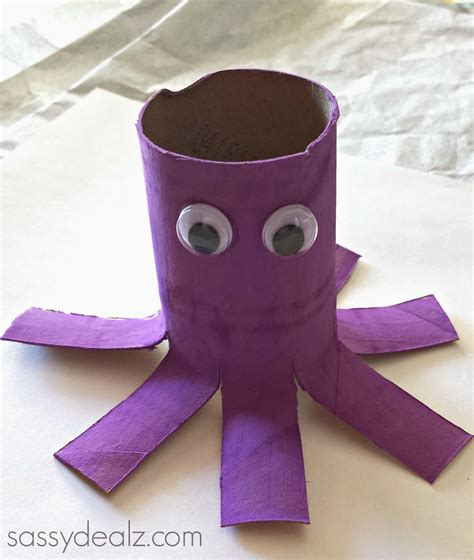 purple crafts for octopus toilet paper roll craft for crafty morning