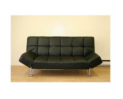 jm uptown 203 764 leatherette black klick klack futon