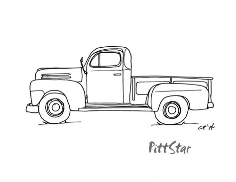 Old Pickup Truck Coloring Pages International Tree Coloring Page
