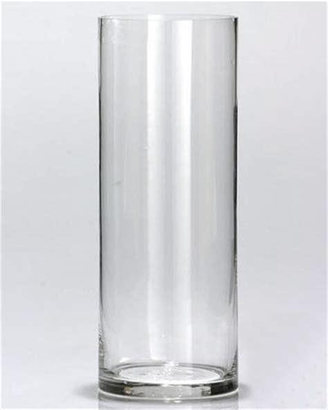 Mariage Vase En Verre Droit Cylindrique Transparent Avec Bougie