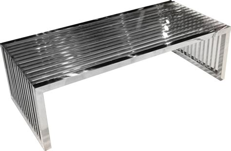 stainless steel coffee table soho rectangular stainless steel cocktail table hedgeapple