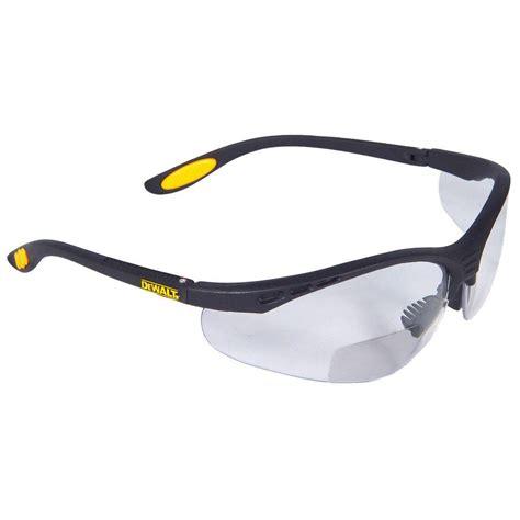 dewalt safety glasses reinforcer rx 2 0 diopter with clear