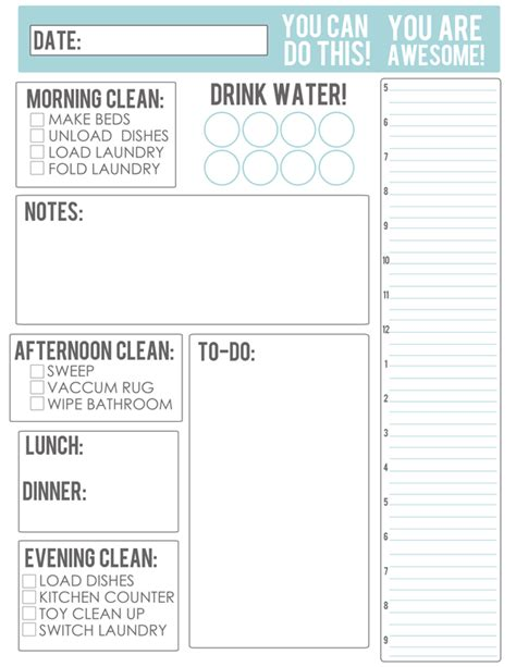 50 Free Printables That Will Improve Your Life Meal Planning Printable Meals And Free Printables Just Do It Project Template