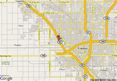 california map highway 99 map of 8 motel fresno hwy 99 fresno