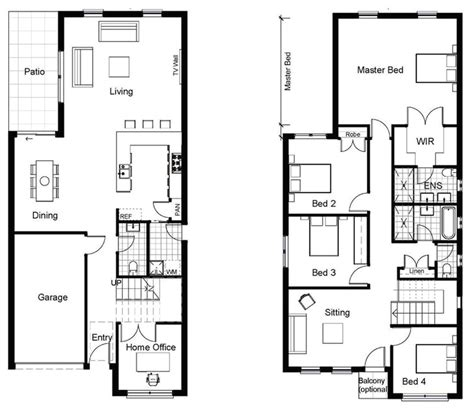 layout home 2 story townhouse floor plans in mhouse plans exles house luxamcc