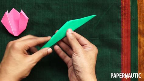 Tulip Origami Step By Step - how to make an easy origami tulip tutorial