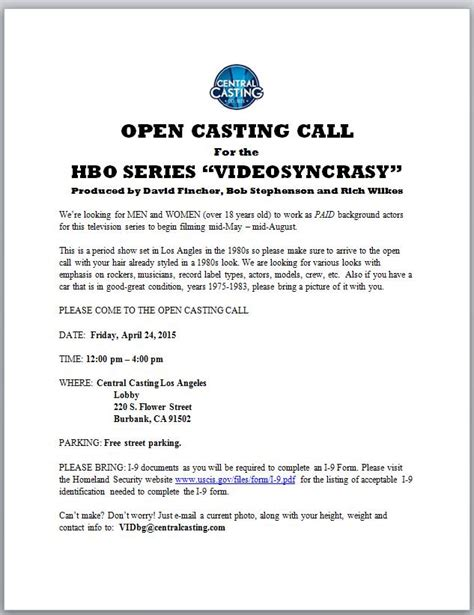 open casting film indonesia 2016 hbo auditions casting calls 2016 auditions database