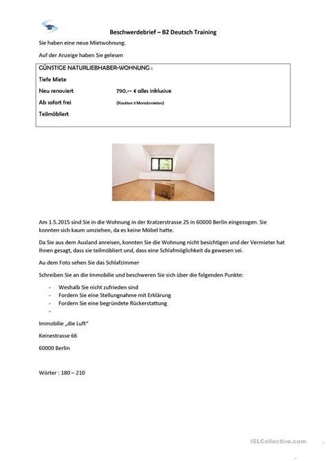 beschwerdebrief b2 pr 252 fung arbeitsblatt kostenlose daf arbeitsbl 228 tter