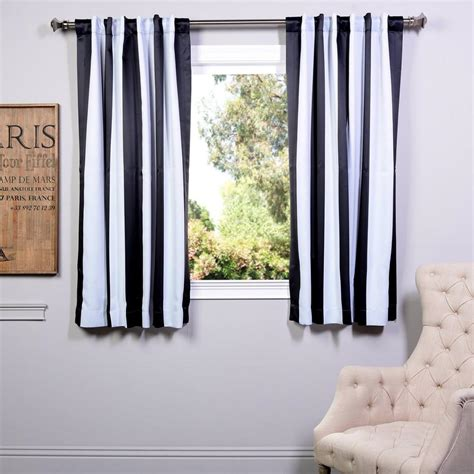 Black And White Blackout Curtains Exclusive Fabrics Furnishings Awning Black And White Stripe Blackout Curtain 50 In W X 63