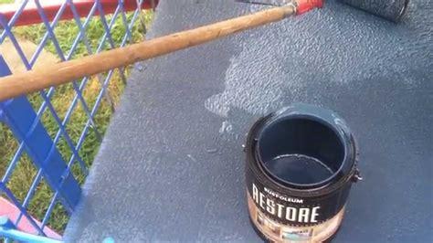 trailer deck paint  rustoleum deck restore paintstain