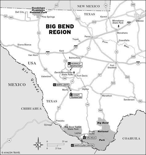 map of big bend texas map of texas s big bend region