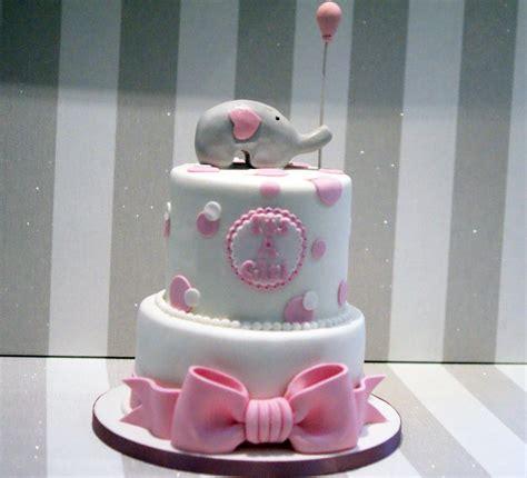Baby Shower Cake Elephant by 2 Tier Elephant Baby Shower Cake Bakealous