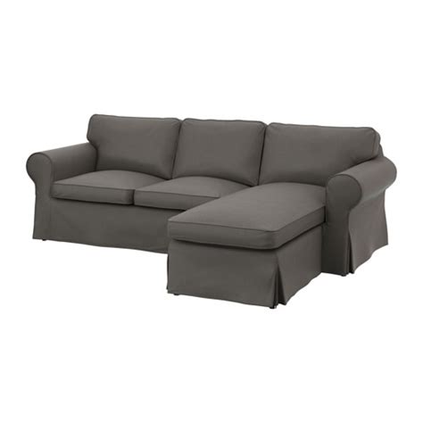 grey ektorp sofa ektorp two seat sofa and chaise longue nordvalla grey ikea