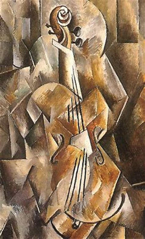 Synthetischer Kubismus Bilder 4124 by Georges Braque Violine Und Krug 1910