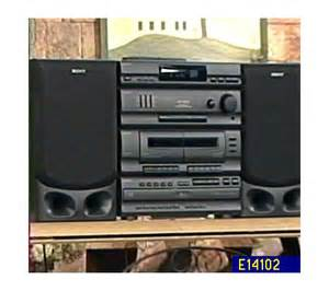 Cd Bookshelf System Sony Shelf Stereo System With 5 Disc Cd Changer Qvc Com