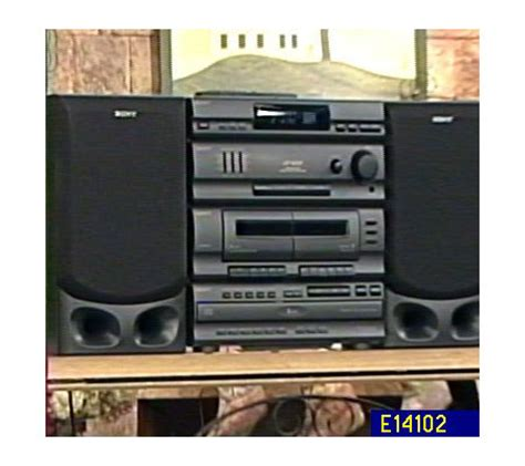 sony shelf stereo system with 5 disc cd changer qvc