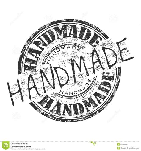 Handcrafted In America - handmade grunge rubber st stock vector illustration