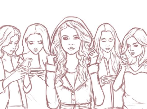 Pretty Liars Printable Coloring Pages pretty liars by aimforthemoon on deviantart