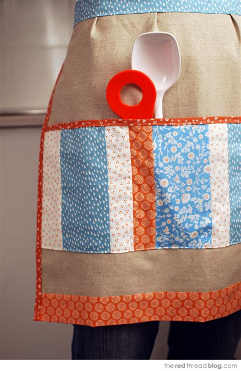 Patchwork Apron Pattern - tutorial sew an apron with a patchwork pocket we are