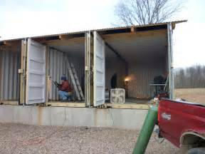 turning a shipping container into a home container house