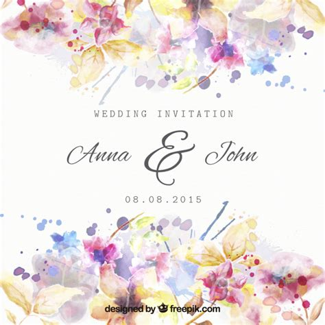 stylish printables watercolor clipart wedding stationery watercolor flowers vectors photos and psd files free