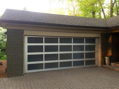 Full View Glass Garage Door Modern Garage And Shed View Glass Garage Doors