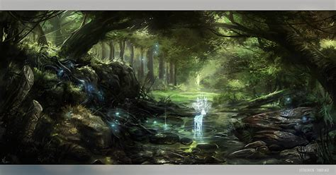 Photo Wall Murals Wallpaper lothlorien by fealasy on deviantart