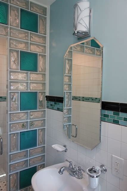 glass block shower contemporary bathroom cleveland
