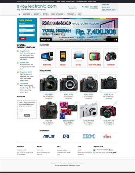 Belanja Elektronik belanja barang elektronik hanya di evoelectronik i d