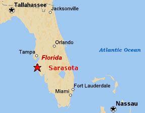 map of florida showing sarasota sighting reports 2006