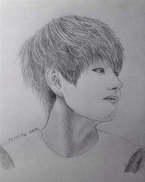 V Sketch Bts by Bts Drawings K Pop Amino