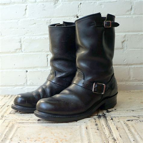 wide motorcycle shoes outlaw rider 1960s vintage engineer boots mens 8 5 ee wide