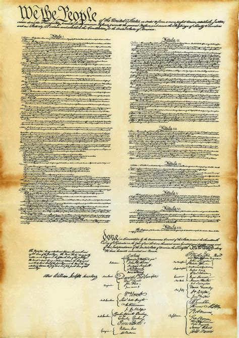 printable original us constitution is it real