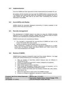 safe work method statement template wa safe work method statement template nsw apps directories