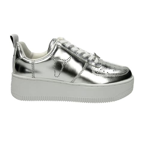 windsor smith windsor smith racerr silver chrome aversa shoes s r l