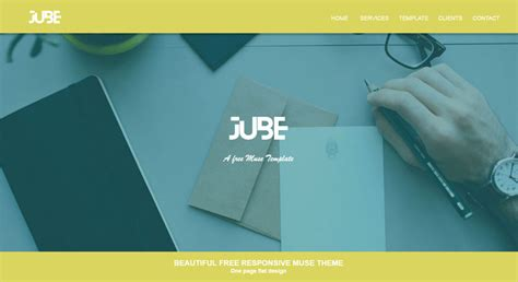 Jube Adobe Muse Responsive Free Template Responsive Muse Templates Widgets Adobe Muse Responsive Templates Free