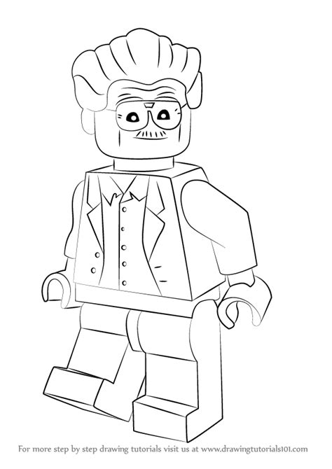 Tutorial For Lego Marvel Superheroes | learn how to draw lego stan lee lego step by step