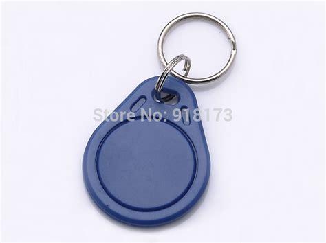 100pcs rfid key fobs chain 125khz proximity abs key tags rewritable access atmel t5577