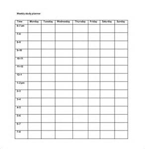templates for studies study schedule template 7 free word excel pdf format