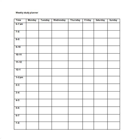 School Study Schedule Template study schedule templates 17 free sle exle format free premium templates