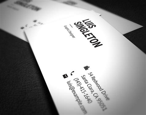Ad Business Card Templates 35596 by Free Clean And Minimal Business Card Template On Behance