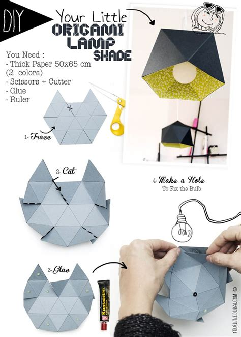 How To Make Origami Lshade - diy origami l shade your dubai tutorials and