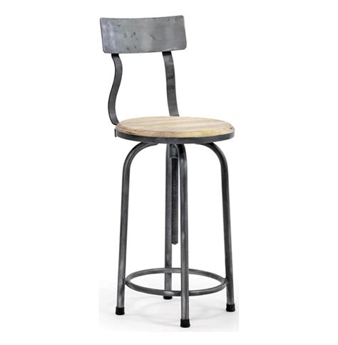 industrial loft modern rustic swivel bar counter stool