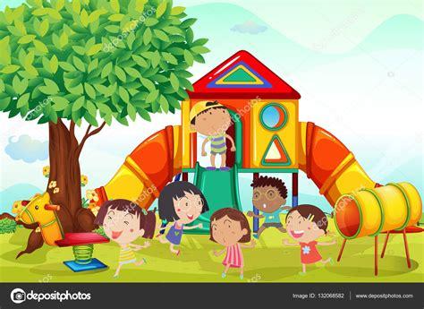 imagenes de niños jugando en invierno muchos ni 241 os jugando en el patio archivo im 225 genes