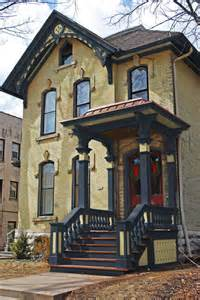 Kitchen Cabinet And Wall Color Combinations yellow brick italianate victorian exterior new york