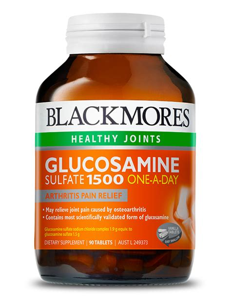 Blackmores Glucosamine 1500 One A Day 180 Tablet blackmores vitamins and supplements australia s most