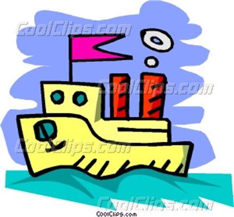 cartoon pleasure boat cartoon boat vector clip art