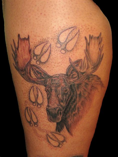 wild tattoos moose tattoos