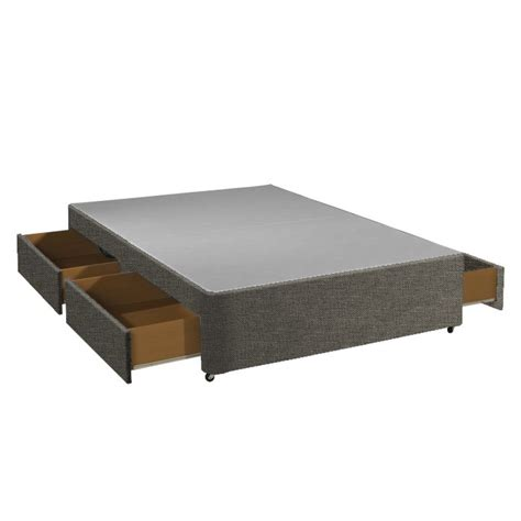 bed base with drawers with 4 drawer storage divan bed base only beds